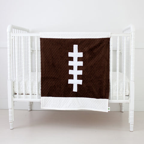 Football shaped Baby Blanket