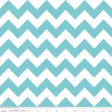 Chevron Blanket Aqua with Teal Minky