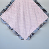 Signature Minky Lovie/ Security Blanket with satin Trim 20+ Colors
