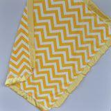 Yellow Chevron Minky Baby Blanket