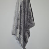 Signature Minky Baby Blanket Charcoal Gray and Silver