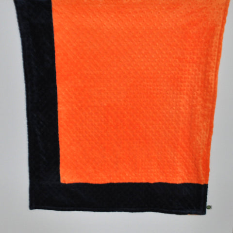 Orange with Navy Border