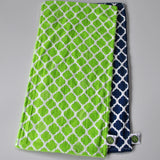 Green and Blue Burp Cloth