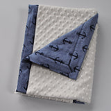 Ivory Minky with Anchor Print Blanket