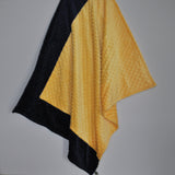 Bright Yellow and navy baby blanket