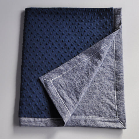 Navy Blue Denim Blanket