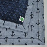 Anchor Print Nautical Baby Blanket