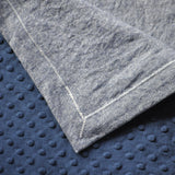 Detail of Navy Blue and Mitered Corners