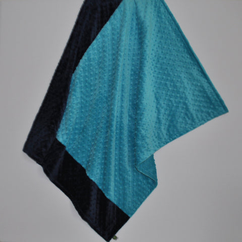 Teal and Navy Baby Blanket