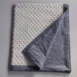 Denim and Cream Minky Baby Blanket