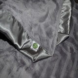 Gray Embossed Minky Blanket with Choice of Satin Trim