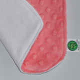 Coral Minky Burp Cloth Set
