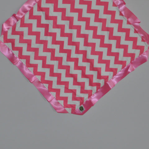 Pink Chevron Security Blanket