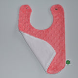 Coral Baby Bib with birdseye cotton