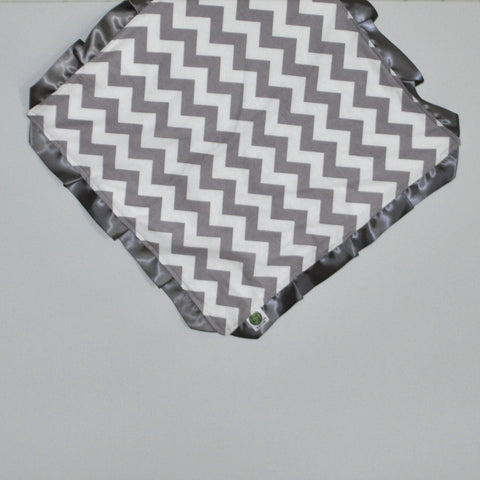 Gray Chevron Security Blanket