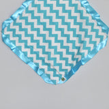 Aqua Chevron Security Blanket