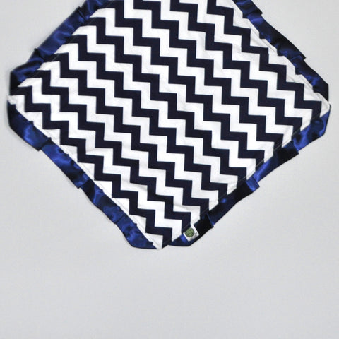 Chevron Lovie Security Blanket Navy Blue