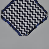 Navy Chevron Security Blanket