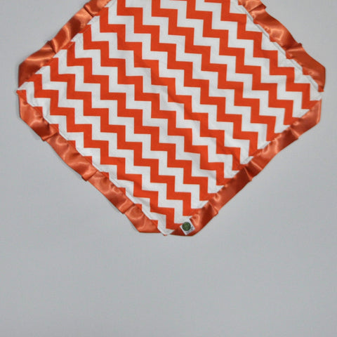 Orange Chevron Security Blanket