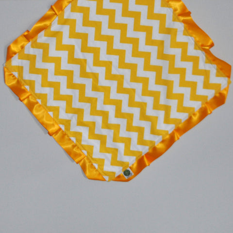 Yellow Chevron Security Blanket