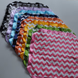 Chevron Cotton Security Blanket With Satin Trim