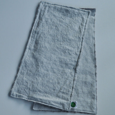 1 Gray Linen and Minky Burp Cloth