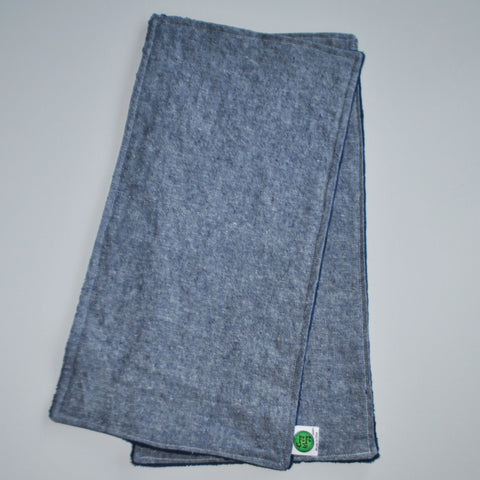 Denim Burp Cloths with Gray Minky