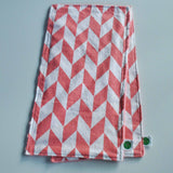 Coral Chevron Burp Cloth Set