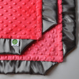 Minky Baby Blanket with Cozy Wozy signature satin corners
