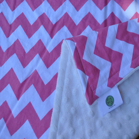 Pink Chevron with white