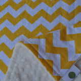 Yellow and White Chevron Blanket