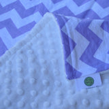 Purple Chevron Baby Blanket