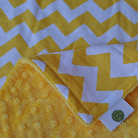 Yellow Chevron Blanket