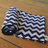Navy Blue and White Chevron Blanket