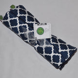 Navy Blue Quatrefoil Lattice Burp Cloth Set