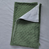 Olive Green Minky Burp Cloth