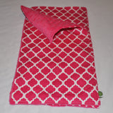 Pink Lattice Burp Cloth Set