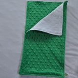 Kelly Green Minky Burp Cloth
