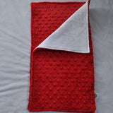 Red Minky Burp Cloth