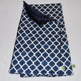 Navy Lattice Burp Cloth Set