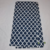 Moroccan Quatrefoil Burp Cloth Sets Navy Blue