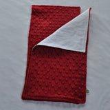 Crimson Minky Burp Cloth