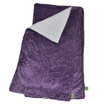 Purple Paisley Burp Cloth set