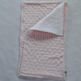Light Pink Minky Burp Cloth