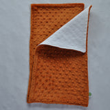 Burnt Orange Minky Burp Cloth