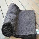 Brown Paisley Baby Blanket