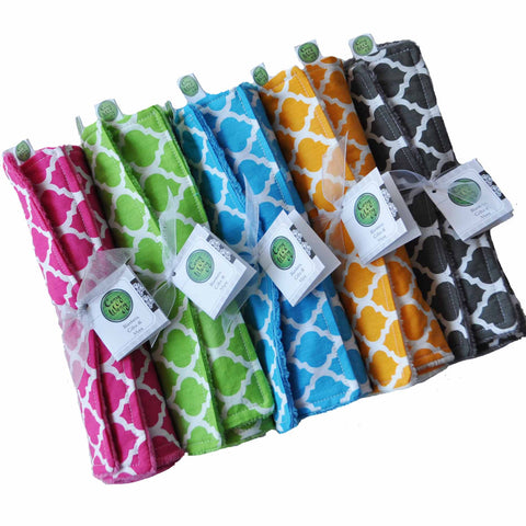 Moroccan Lattice Burp Cloth