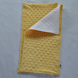Bright Yellow Minky Burp Cloth