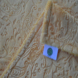 Yellow Paisley Minky Blanket
