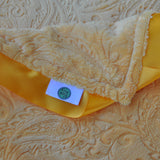 Yellow Pasiley Blanket with Trim